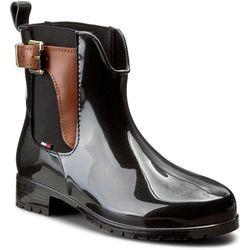 Kalosze TOMMY HILFIGER - Oxley 2Z2 FW56822108 Black/Winter Cognac 990