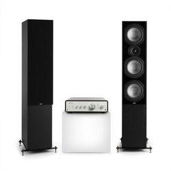 Numan Drive 801, zestaw stereo składający się ze wzmacniacza stereo i kolumn stojących, czarny/czarny