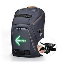 """PORT DESIGNS GO LED Backpack with integrated LED indicator system Fits up to size 15.6 """", Black, Waterproof"""