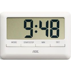 Minutnik elektroniczny z wyświetlaczem LCD - ADE biały (AD-TD 1600)