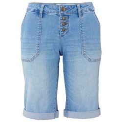 Bermudy dżinsowe bonprix średni niebieski