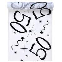 Bieżniki, Dekoracja bieżnik na stół z nadrukiem na 50 urodziny - 30 cm - 1 szt.