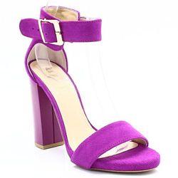 TYMOTEO 2661 FUKSJA - Sandały na słupku, skóra - Różowy ||Fioletowy WYPRZEDAŻ -35% (-35%)