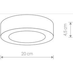 Zewnętrzna LAMPA sufitowa MERIDA 12W LED 9514 Nowodvorski okrągła OPRAWA plafon outdoor IP54 grafitowa