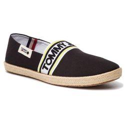 Espadryle TOMMY JEANS - Stripe Summer Shoe EM0EM00222 Black 990