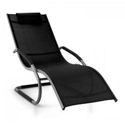 Blumfeldt Sunwave Leżak ogrodowy Leżak relaksacyjny bujający Aluminium czarny