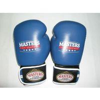Rękawice do walki, Rękawice bokserskie MASTERS RBT-A - niebiesko-czarno-biały