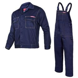 Komplet ubrań roboczych bluza, ogrodniczki L (176/100-104) Granatowe