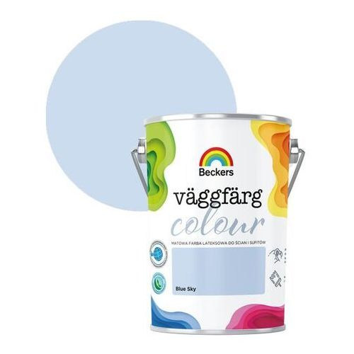 Farby, Farba lateksowa Beckers Vaggfarg Colour blue sky 5 l