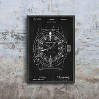 Plakaty, Plakat w stylu vintage Plakat w stylu vintage Zegar patentowy Rolex Wessel