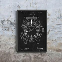 Plakat w stylu vintage Plakat w stylu vintage Zegar patentowy Rolex Wessel