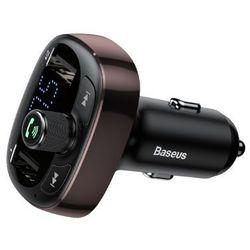 BASEUS TRANSMITER FM BLUETOOTH USB SD BRĄZOWY - CCALL-TM12