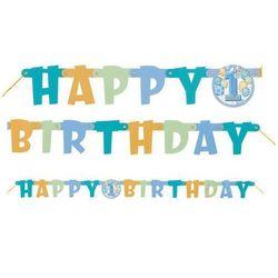 Baner na roczek 1st Birthday Baloniki Blue - 120 cm - 1 szt.
