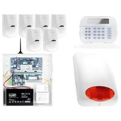 ZA12543 Zestaw alarmowy DSC 6x Czujnik ruchu Manipulator LCD Powiadomienie GSM