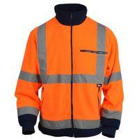 Kurtki i kamizelki ochronne, Kurtka polarowa ostrzegawcza Vizvwell VWFC13BON, pomarańczowo-granatowa - rozmiar L