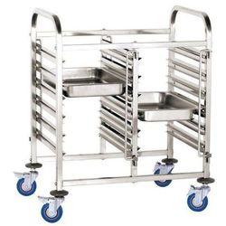 Wózek podwójny do transportu pojemników i tac | 12x GN1/1 | 550x740x(H)1000mm