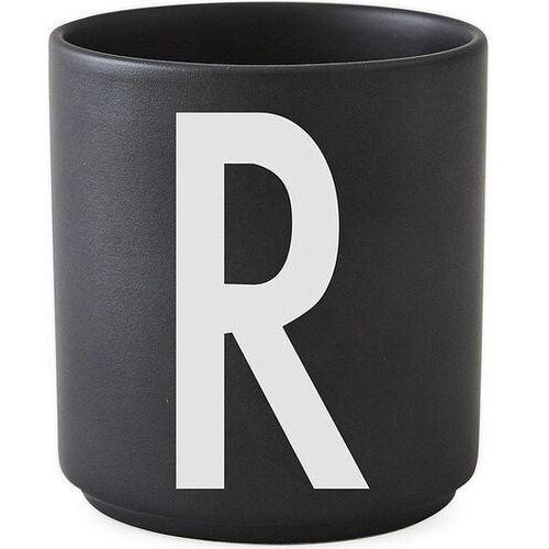 Kubki, Kubek porcelanowy AJ czarny litera R