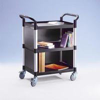 Wózki i stoły narzędziowe, Wózek uniwersalny, ze ściankami z metalu, z 2 ściankami bocznymi, 1 ścianką tyln
