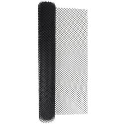 Siatka ogrodzeniowa z tworzywa sztucznego typ 300HD czarna 1,2 m x 5 m