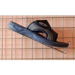 Uchwyt na kratę, metalowy do prezentacji obuwia itp. - prawy, w kolorze srebrnym