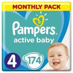 Pampers Pieluchy Active Baby 4 Maxi (9-14 kg) Miesięczny zapas- 174 szt.