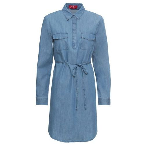 Suknie i sukienki, Sukienka dżinsowa bonprix jasnoniebieski