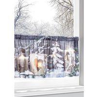 """Zazdrostki, Zazdrostka LED """"Zimowy krajobraz"""" bonprix biały z nadrukiem"""