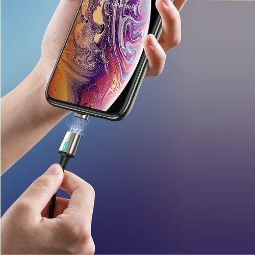 Smartbandy, Baseus Zinc Magnetic | Kabel magnetyczny USB - Micro USB Quick Charge 2.4A 100cm - Magnetyczny \ 100cm \ Fioletowy \ Micro USB