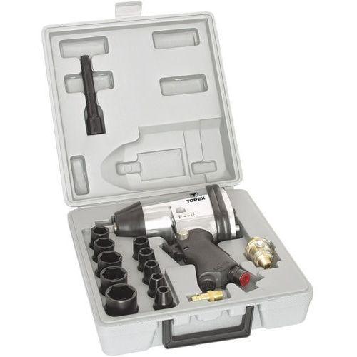 Klucze pneumatyczne, Klucz udarowy TOPEX pneumatyczny z nasadkami 1/2 cala 315 Nm 74L002