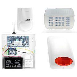 ZA12534 Zestaw alarmowy DSC 1x Czujnik ruchu Manipulator LED Powiadomienie GSM