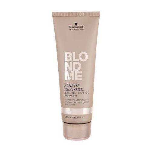 Mycie włosów, Schwarzkopf Professional Blondme regenerujący szampon z keratyną do wszystkich typów włosów blond bez siarczanów (Keratin Restore Bonding Shampoo) 25