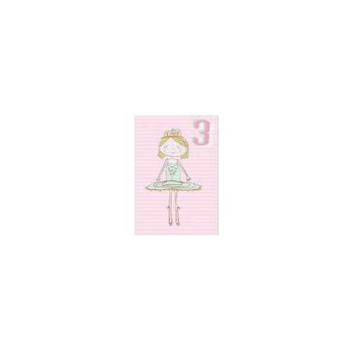 Pozostałe artykuły szkolne, Karnet B6 z kopertą Urodziny 3 dziewczynka