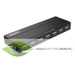 Unitek HUB 7x USB 2.0 czarny; z zasilaczem; Y-2191
