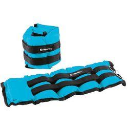 Regulowane obciążniki na kostki i nadgarstki inSPORTline BlueWeight 2x2 kg