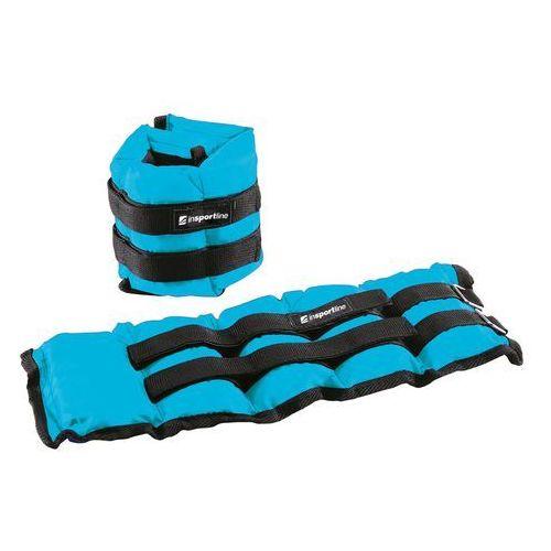 Hantle i obciążniki, Regulowane obciążniki na kostki i nadgarstki inSPORTline BlueWeight 2x2 kg