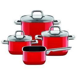 Silit - Zestaw 4 cz. czerwony Quadro Red