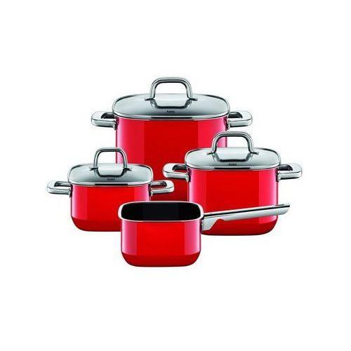 Garnki, Silit - Zestaw 4 cz. czerwony Quadro Red
