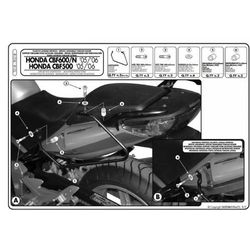 GIVI T218 stelaż pod sakwy do Honda CBF