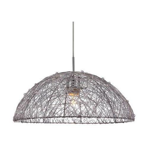 Lampy sufitowe, Żyrandol LAMPA wisząca WYATT MDM2138/1 Italux druciana OPRAWA metalowa LOFT kopuła srebrna