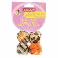 Pozostałe zabawki, Zolux Piłki kolorowe dla kota - zestaw 4szt. [480418]