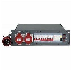 """Showtec PS-3202 MKII 32A CEE In - 2 x 16A CEE Out + 6 x Schuko Rozdzielnia elektryczna do rack 19"""""""
