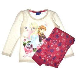 Piżama dziecięca komplet Frozen Kraina Lodu róż - Różowy ||Biały