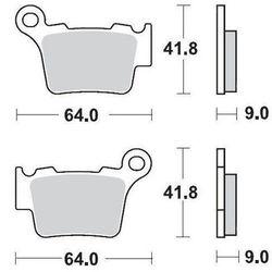 KLOCKI HAMULCOWE KH368 METALICZNE: 11 KTM 200SX, 250SX, 450SX MOTO-MASTER M094411