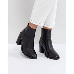 ASOS ENVY Leather Ankle Boots - Black