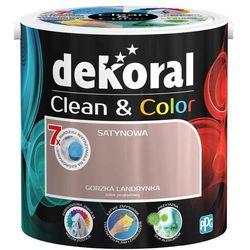 Satynowa farba lateksowa Dekoral Clean&Color gorzka landrynka 2 5 l