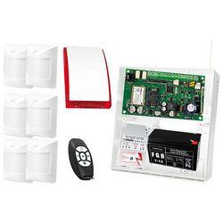 Zestaw alarmowy: Płyta główna MICRA, 2x Pilot MPT-300, 6x Czujka Abmer, Sygnalizator SP-4001, Akcesoria