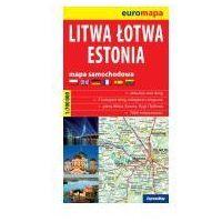 Mapy i atlasy turystyczne, Litwa, Łotwa, Estonia. Mapa samochodowa skala 1:700 000 - Praca zbiorowa (opr. broszurowa)