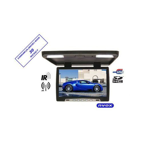 "Monitory samochodowe, NVOX RF1790U BL Monitor podwieszany podsufitowy LCD 17"" cali LED USB SD IR FM"
