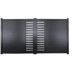 Brama skrzydłowa z aluminium ze wzorem GATEO - 300 × 160 cm