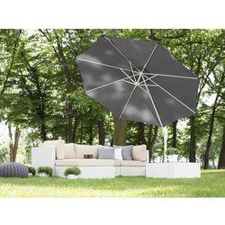 Parasol ogrodowy Ø300 cm antracytowy/biały SAVONA